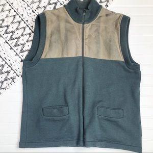 FILSON Vintage Leather/wool Green Vest